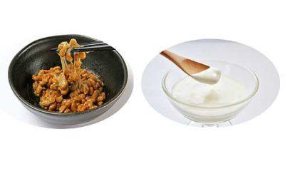 納豆とヨーグルト
