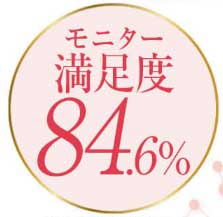 モニター商品満足度84.6%